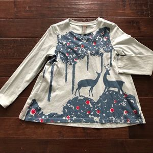 Tea Collection Deer Girls Swing Top Shirt 10